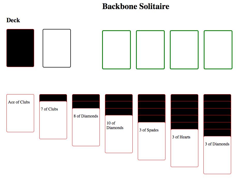 Backbone-Solitaire