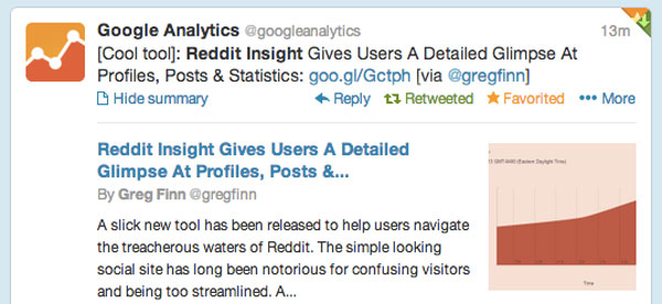 Google Analytics Reddit Insight